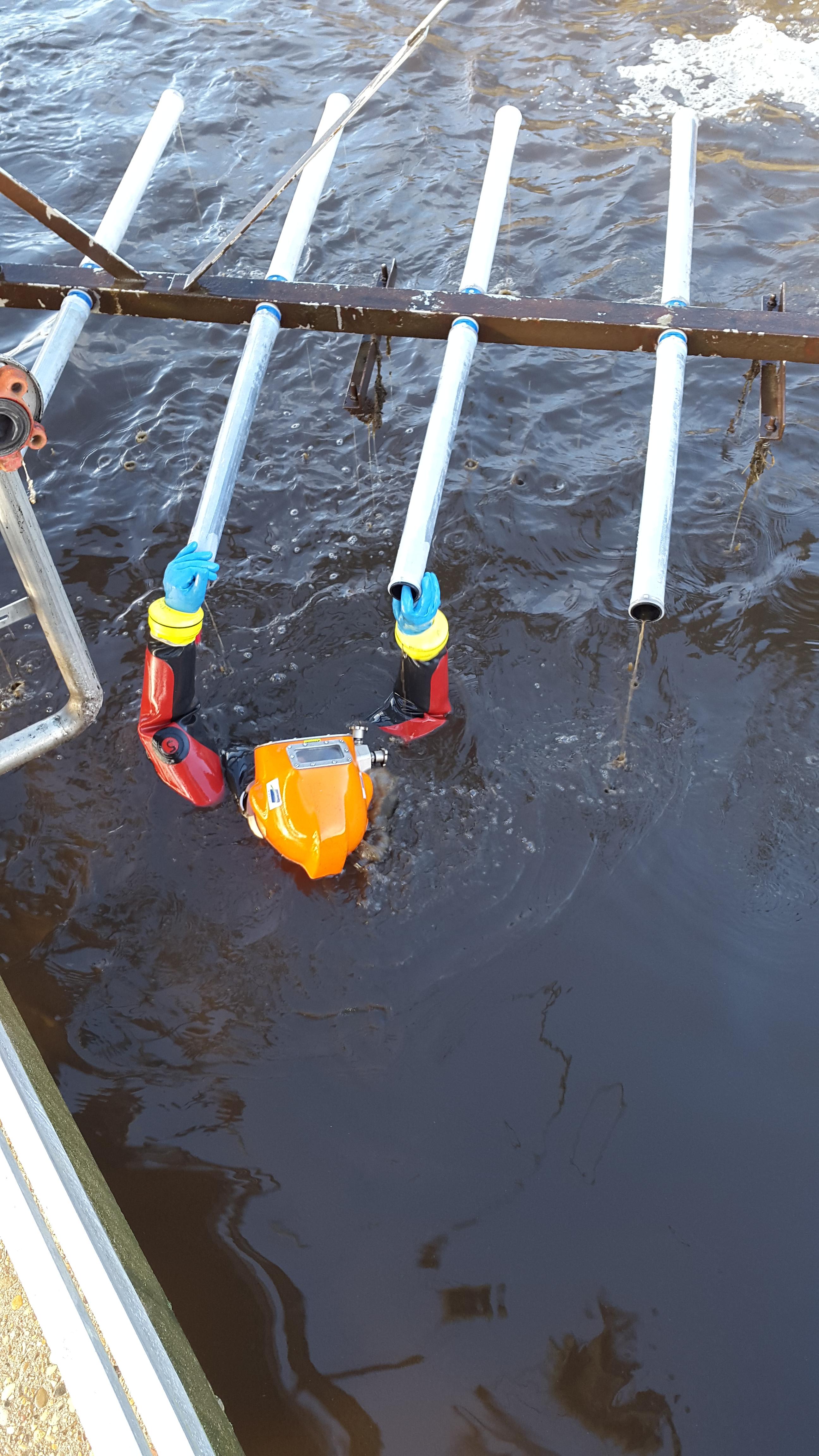 Travaux subaquatiques - Stations d'épuration